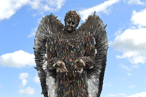 Knife Angel Outside 1