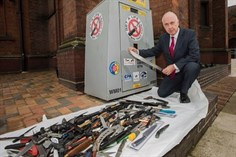Three new weapon surrender bins for the West Midlands