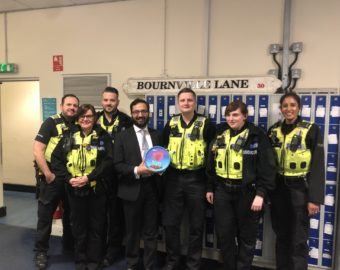 Assistant Police Commissioner personally thanks police officers for keeping people safe over the Christmas and New Year