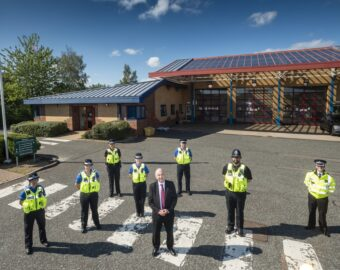 West Midlands Police Officers Move Into Fire Station