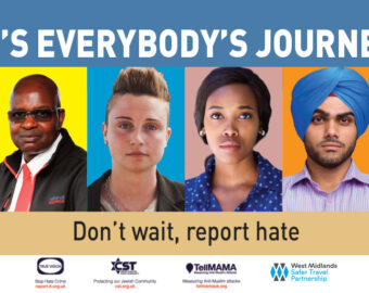 Safer Travel Relaunch Anti-Hate Crime Campaign To Encourage Passenger Reporting